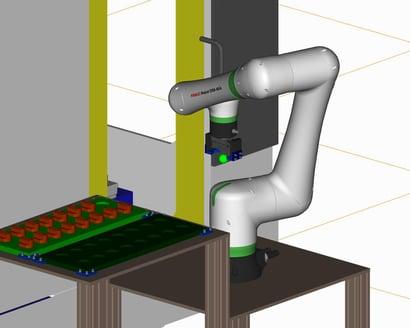 協働ロボットによる加工機ローディング装置_2