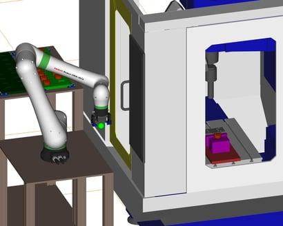 協働ロボットによる加工機ローディング装置_3